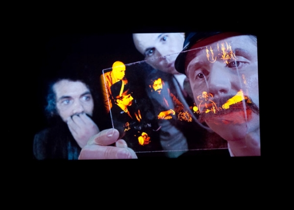 """Le Volcan,"" a video installation by Tony Oursler. CreditByron Smith for The New York Times"