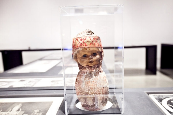 Sequined baby voodoo doll from late 20th century. CreditByron Smith for The New York Times