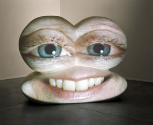 "Tony Oursler, ""Caricature"" (2002) (image via   magasin3.com  )"