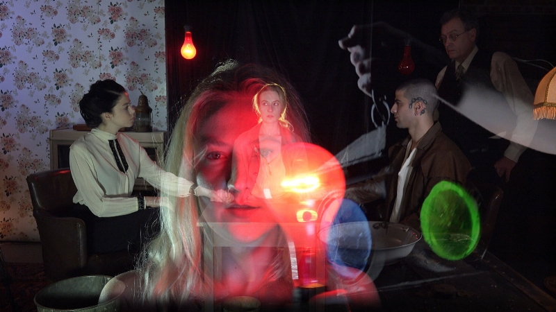 A still from Tony Oursler's film Imponderable, 2015-2016