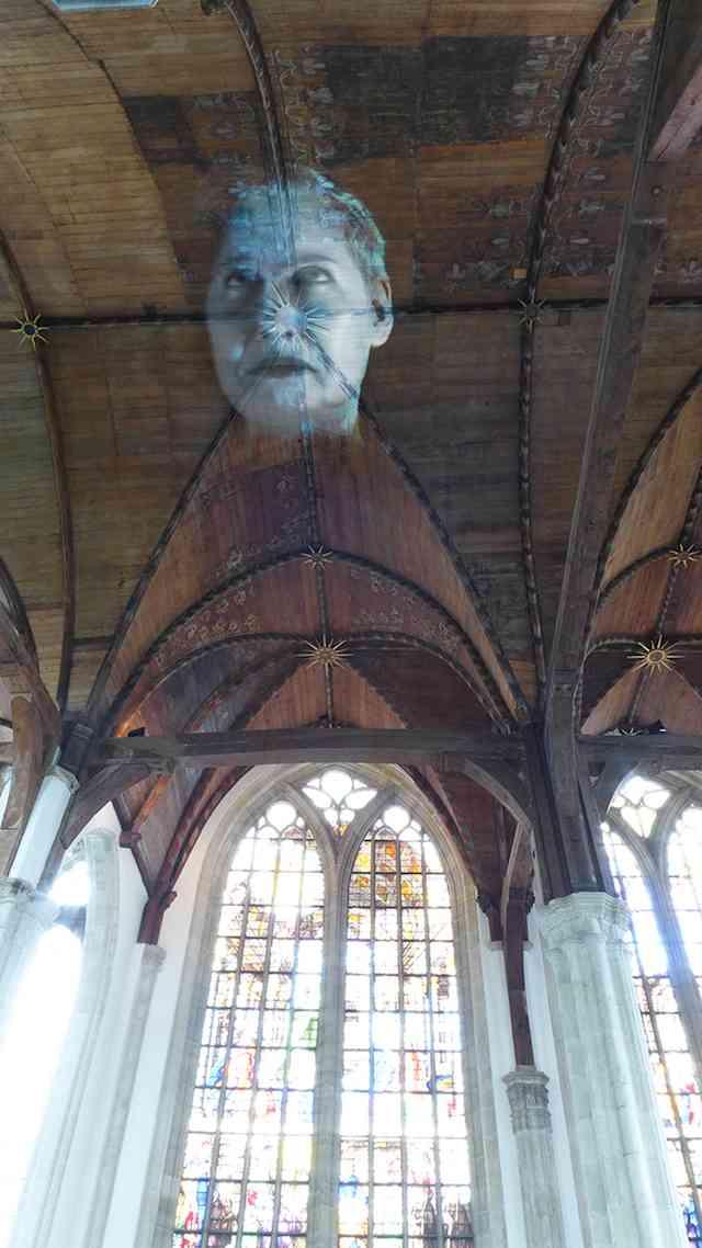 Oude Kerk, Tony Oursler, 2014