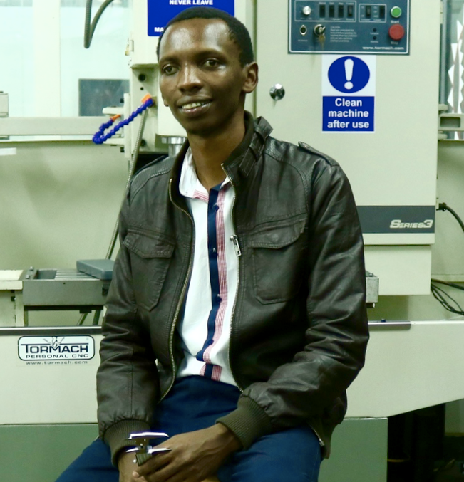 Michael Gathogo   Michael Gathogo is the Project Coordinator of the MakerNet pilot in Kenya. He is a product designer and entrepreneur and has designed a range of products from the CladLight wearable tech to reduce motorcycle accidents in Kenya to a medical delivery drone and circular economy solutions. Michael specializes in digital fabrication, 3D printing, CAD modelling, CNC milling and tooling, and is a member of Gearbox.