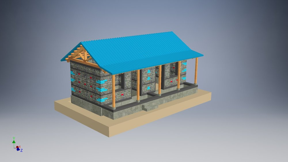 The 3D model of the completed house. Image credit: Field Ready