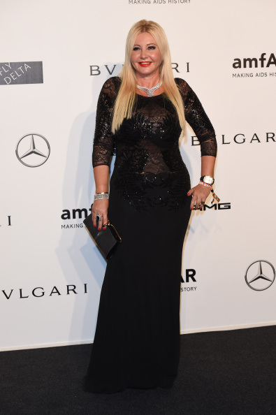 Lady Monika Bacardi attended the Charity event hosted by amfAR in Milano 2014