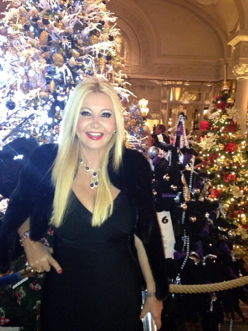 Lady Monika Bacardi at Bal De Noel De Monaco
