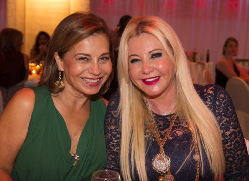 Lady Monika Bacardi and Mrs Mitra Moghadam, both fully involved in charity activities, at Monaco Ambassador Club Gala fundraising for Nepal