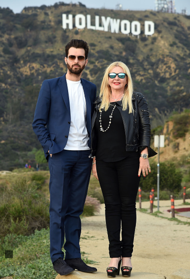 Monika Bacardi and Andrea Iervolino in Hollywood for the Oscars