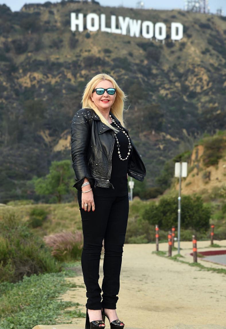 Monika Bacardi in Hollywood for the Oscars
