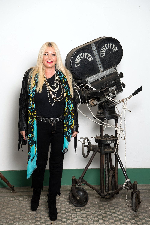 Lady Monika Bacardi on set of 'The Music of Silence by Michael Radfor'