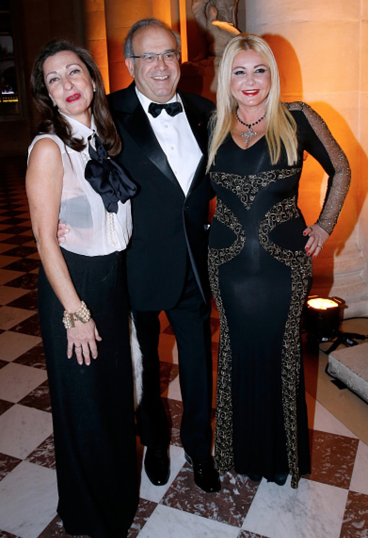 Monika Bacardi with Professor David Khayat and his wife at Gala dinner Fondation AVEC in Paris 2015