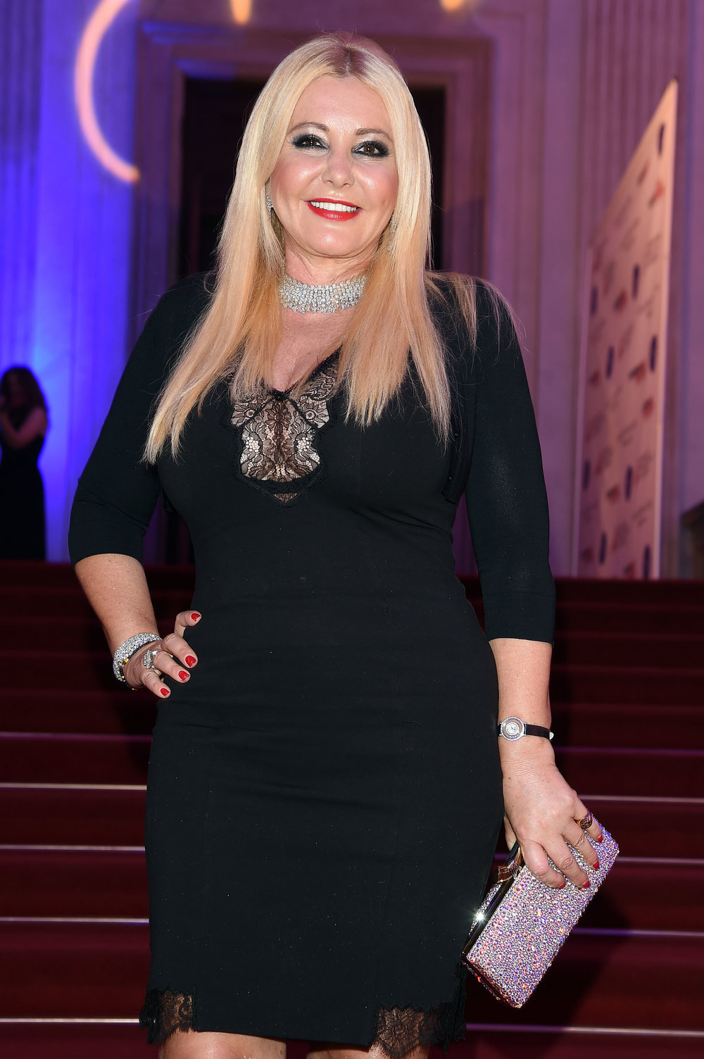 Monika Bacardi at Gala dinner hosted by Foundation Prince Albert II in Milano 2015