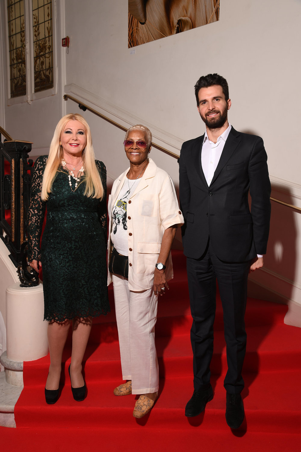 Dionne Warwick with AMBI Group At The 69th Annual Cannes Film, Monika Bacardi & Andrea Iervolino