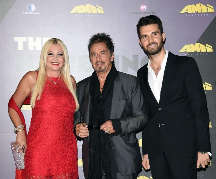 Monika Bacardi, Al Pacino and Andrea Iervolino at Venice Film Festival