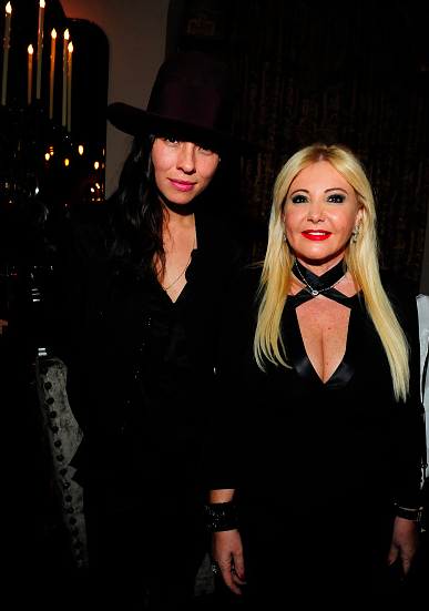 Tasya van Ree and Monika Bacardi attend the PHOTO Magazine Celebration of its Los Angeles Special Issue at the Chateau Marmont