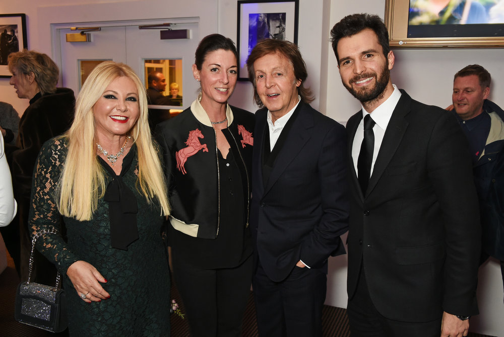 Monika Bacardi, Mary McCartney, Sir Paul McCartney and Andrea Iervolino, attend a cast and crew screening of 'This Beautiful Fantastic' at BAFTA