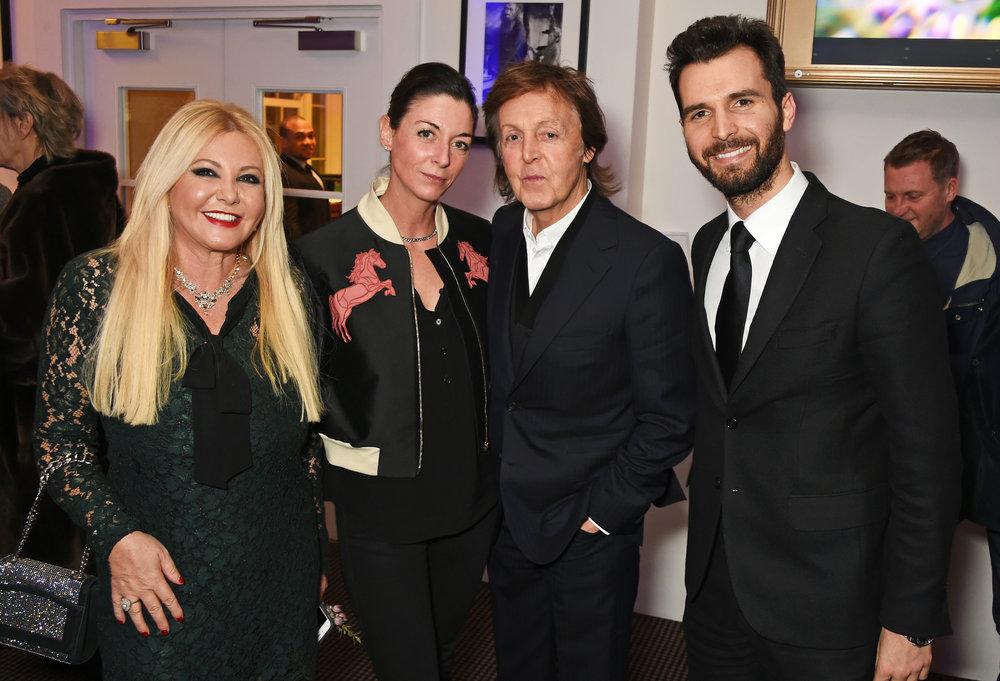 Monika Bacardi, Mary McCartney, Sir Paul McCartney and Andrea Iervolino, attend a cast and crew screening of 'This Beautiful Fantastic' at BAFTA