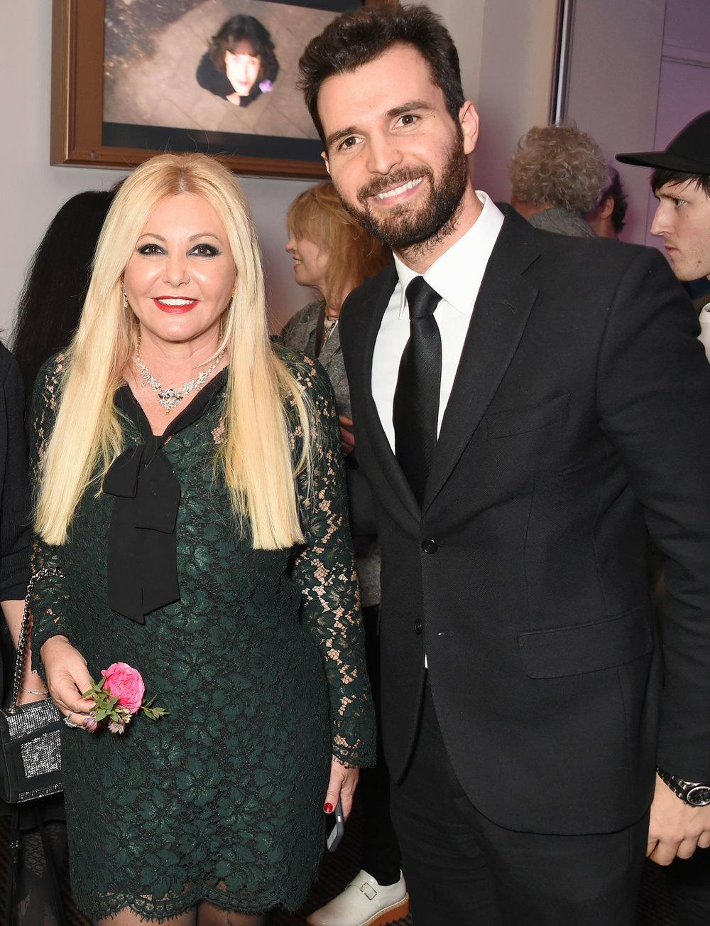 Monika Bacardi and Andrea Iervolino at 'This Beautiful Fantastic' at BAFTA