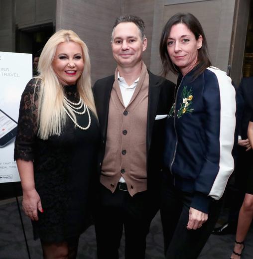 Mary McCartney, Jason Binn, and Monika Bacardi attend DuJour Media, JetSmarter's Ronn Torossian, Gilt's Jonathan Greller, Jason Binn & elit Vodka's celebration of 'This Beautiful Fantastic'