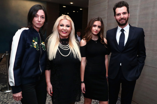 Mary McCartney, Monika Bacardi, Maria Luisa Bacardi, and Andrea Iervolino at 'This Beautiful Fantastic' screening in New York