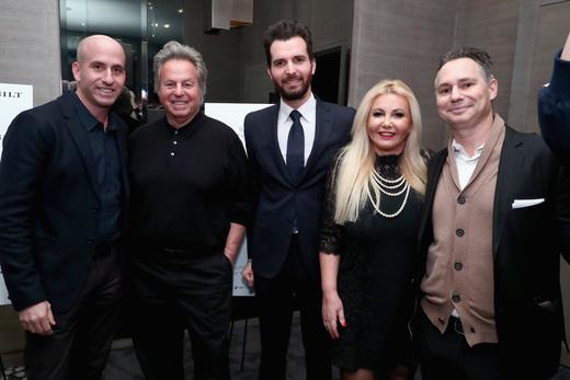 Jonathan Greller, Mark Weber, Andrea Iervolino, Monika Bacardi and Jason Binn attend 'This Beautiful Fantastic' screening at the Park Hyatt