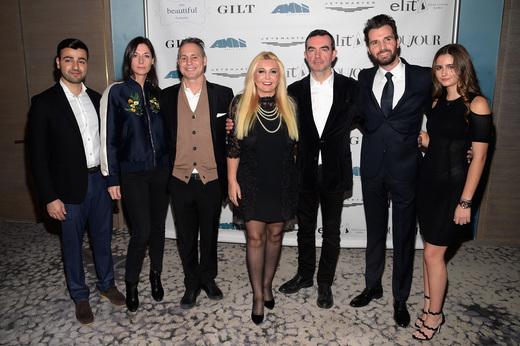 Sergey Petrossov, Mary McCartney, Jason Binn, Monika Bacardi, Simon Aboud, Andrea Iervolino, and Maria Luisa Bacardi at 'This Beautiful Fantastic' screening