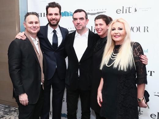 Jason Binn, Andrea Iervolino, Simon Aboud, Jennifer Levine, and Monika Bacardi at the screening of 'This Beautiful Fantastic' at the Park Hyatt