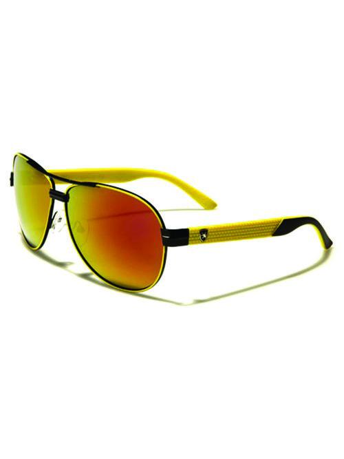 mens aviator sunglasses yellow - Yellow Frame Sunglasses