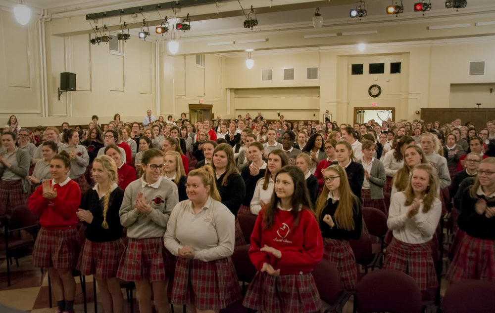 Students at Duschesne Academy.