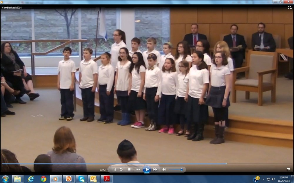 Friedel students sing at Yom HaShoah