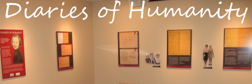 holocaust exhibit - diaries of humanity banner
