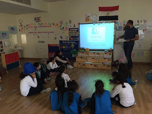 Our Fundraising & Communications Manager Ahmed Ali had a great time presenting to girl scouts about the work we do supporting orphans and street children in Cairo! Great energy! #girlscouts #orphans #streetchildren #sustainabledevelopment #scouts #FACEchildren #TogetherWECan