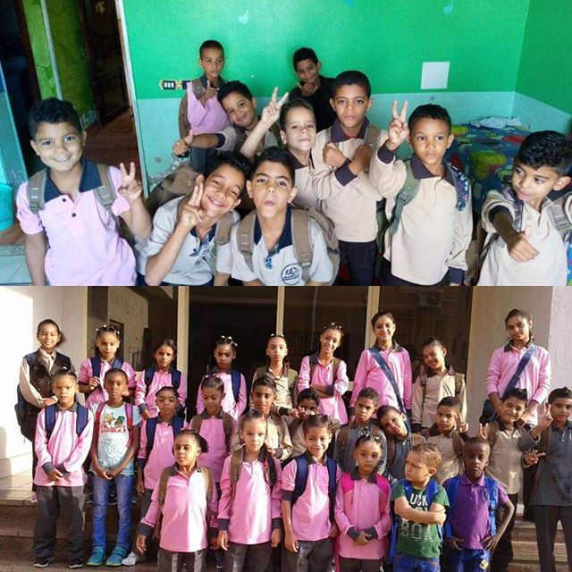 First day at school for our children in Obour!  #FACEchildren #Reintegration #TogetherWECan #Egypt
