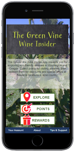 "The Green Vine Wine Insider App - A companion app to The Green Vine book, which has much more information about how sustainable wine is grown and made, how certain wineries are cutting down on ""wine-miles"" by the types of packaging they use, reducing their water and energy use, and finding ways to make great wine without the use of chemicals that are harmful to our bodies and our environment. The book clarifies the various certifications, such as Salmon-Safe, LIVE (Low Impact Viticulture and Enology), Carbon Neutral Challenge and other sustainable practices."