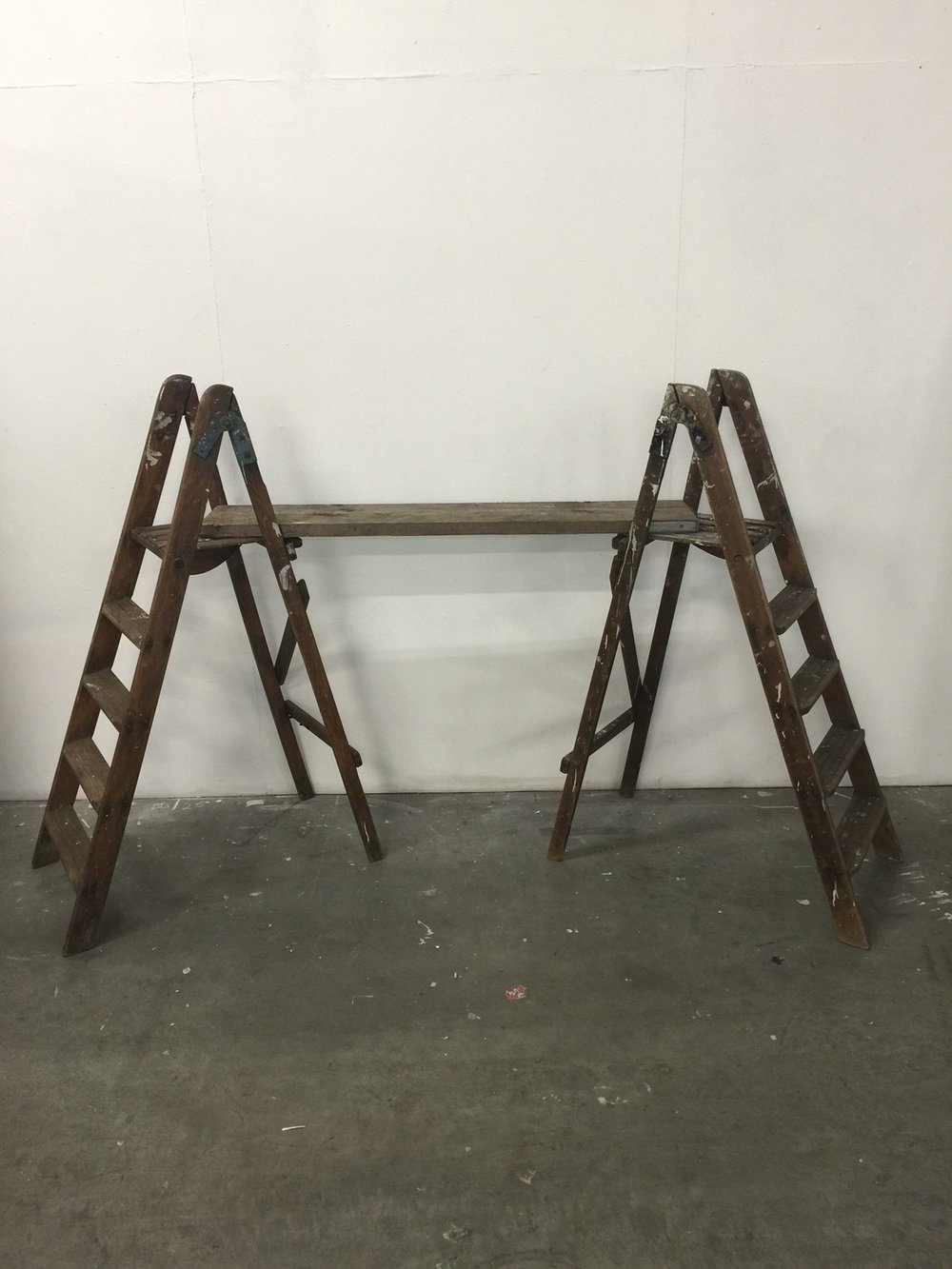 Wooden ladder table set up £35 to hire