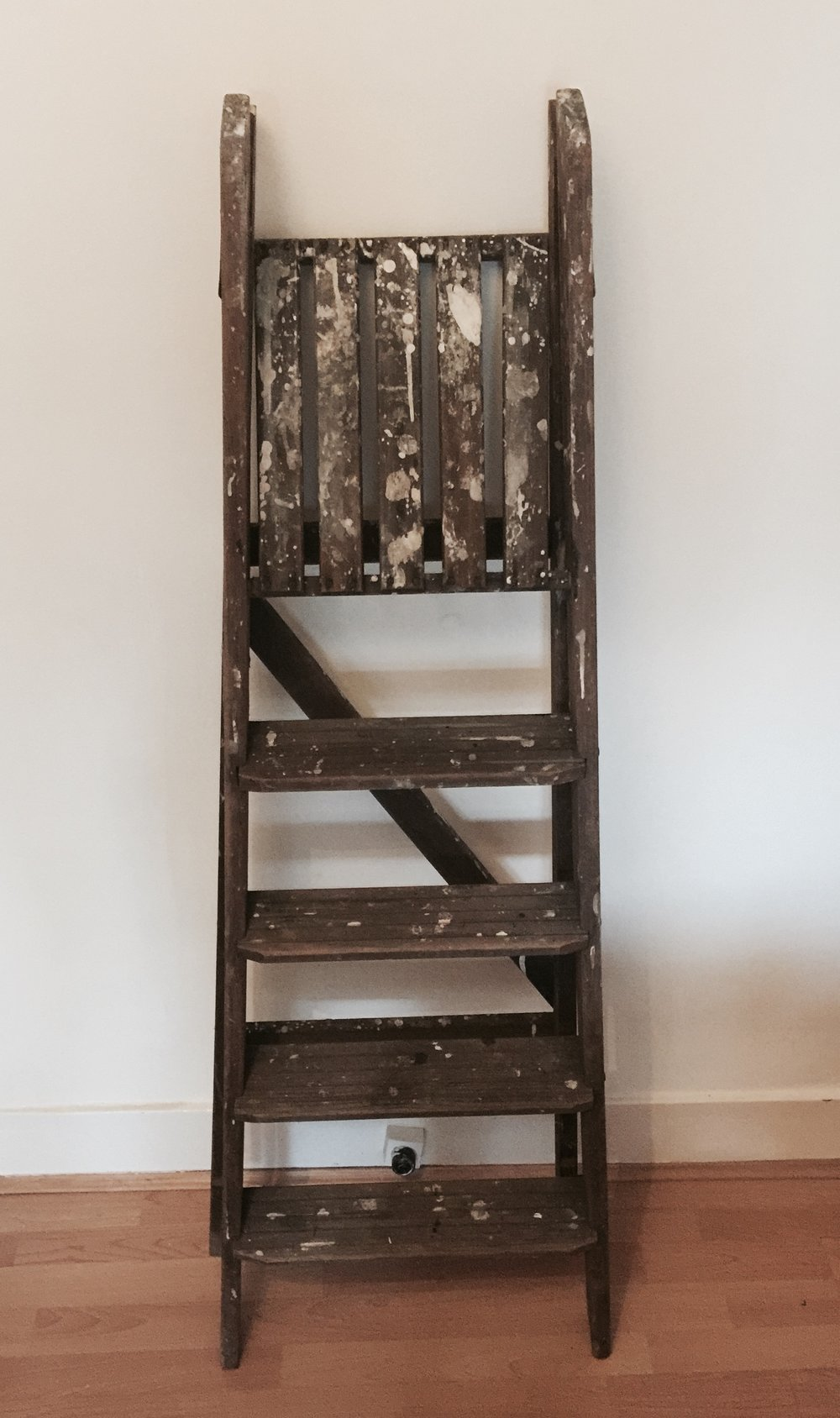 Wooden ladder £15 each to hire