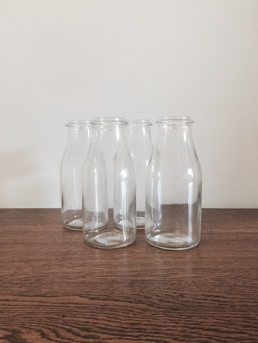Milk bottles £1 each to hire