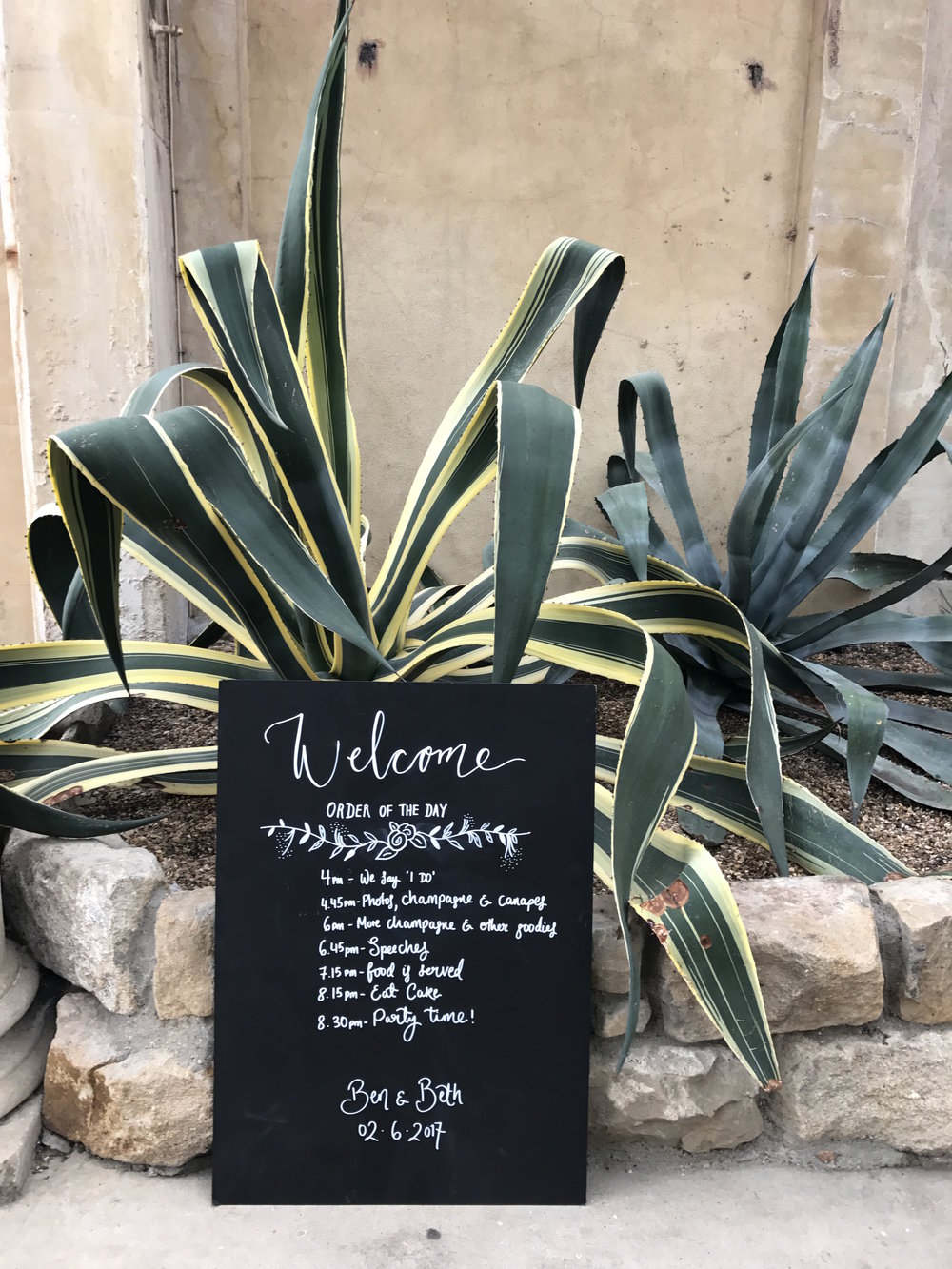 Handwritten signs - Add character to your event with handwritten welcome signs, table plans & directional signage