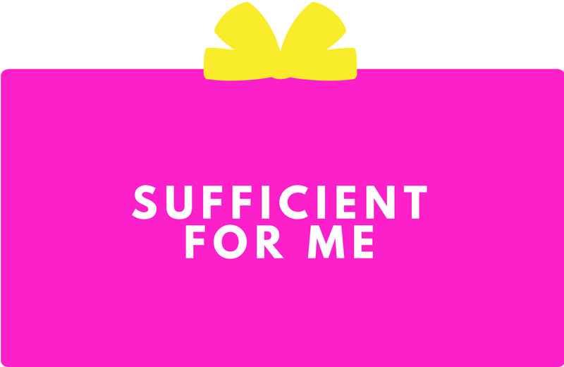 Surprise Gift Co. Blog : Sufficient For Me