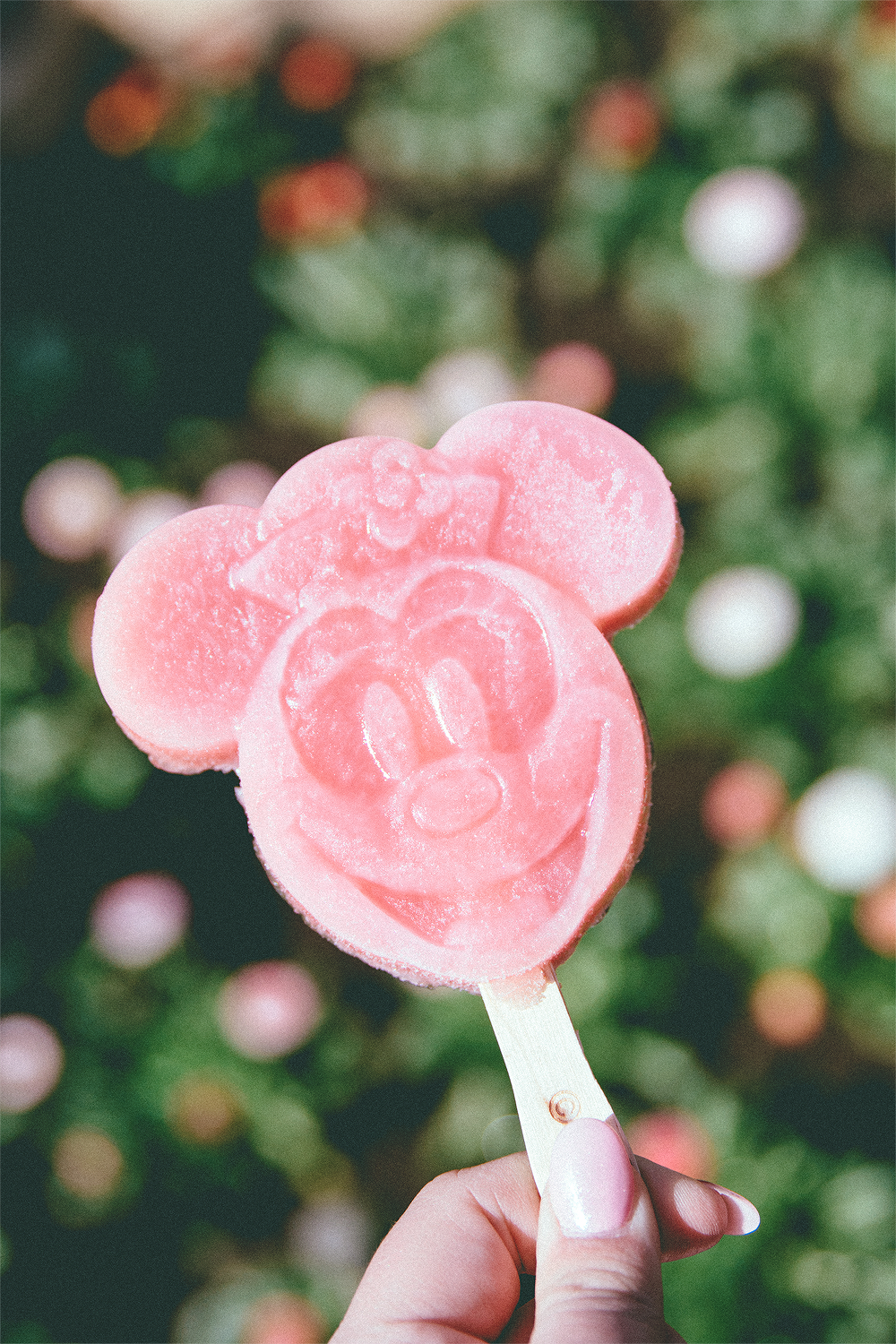 During our previous trip, I tried Mickey, so I was really looking forward to Minnie's peach (my favorite) and raspberry flavor. It was so delightful!