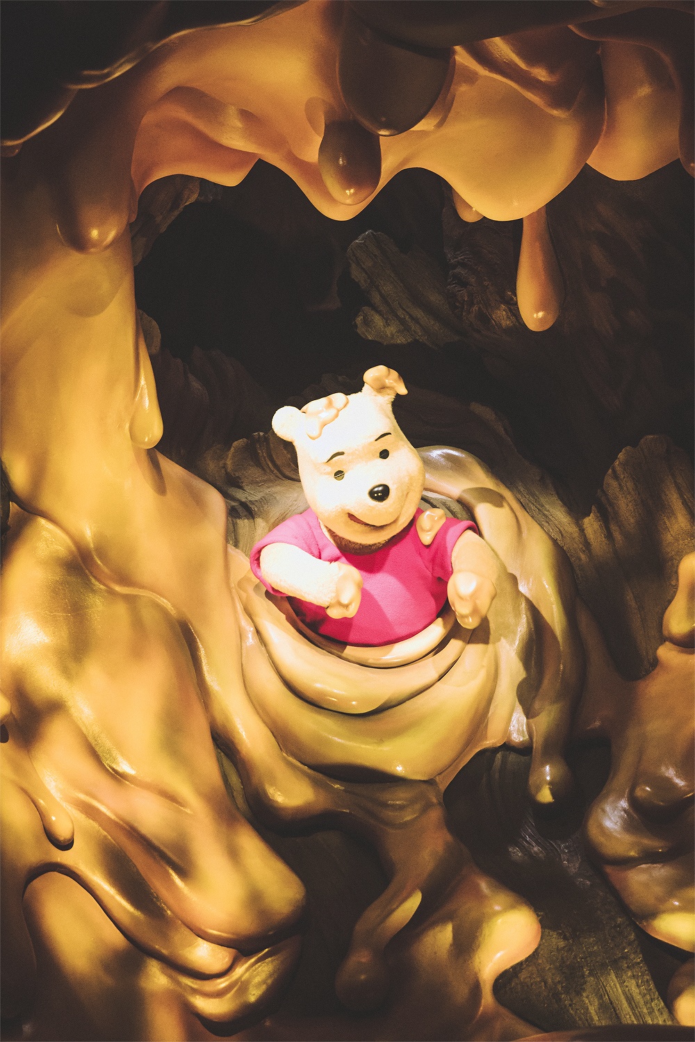 And in the end you are stuck with Pooh-san in the honey tree, which literally smells like honey!