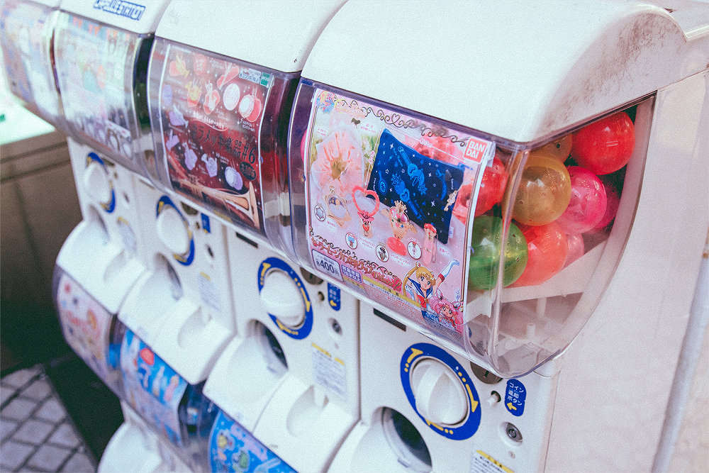 Gashapon machines are a must-do!