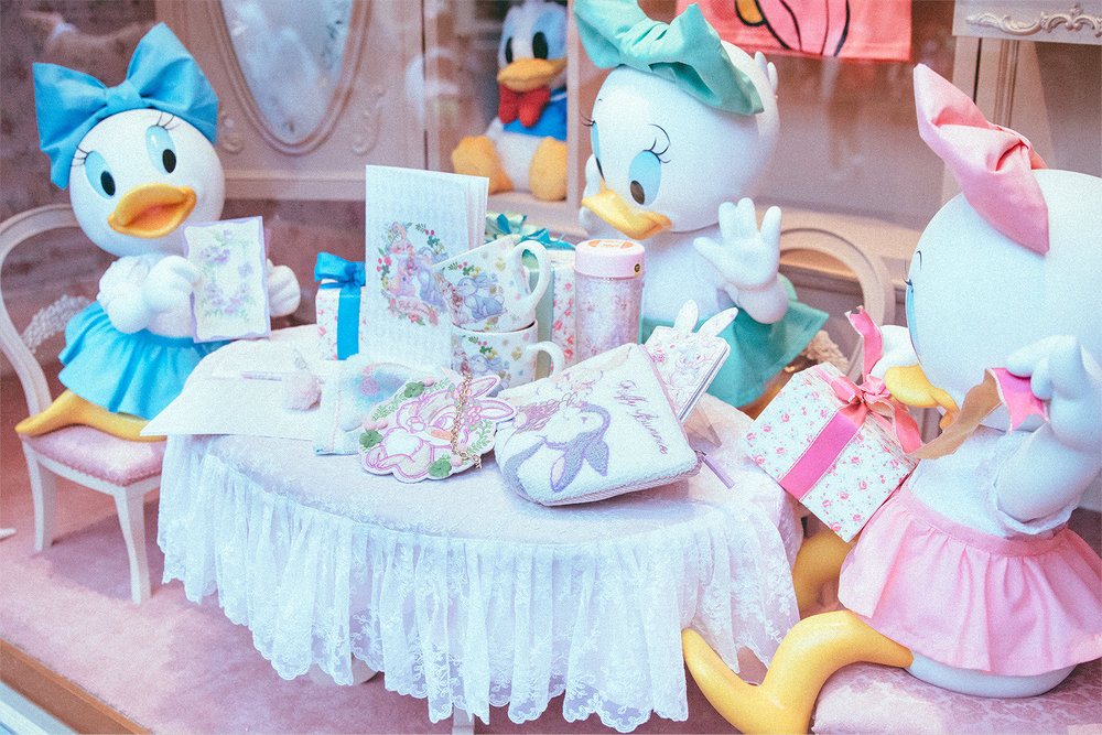This window is one of their default displays depending on the season, but I just adore these in-between holidays window with April, May, and June. Only in Japan will you find them represented.