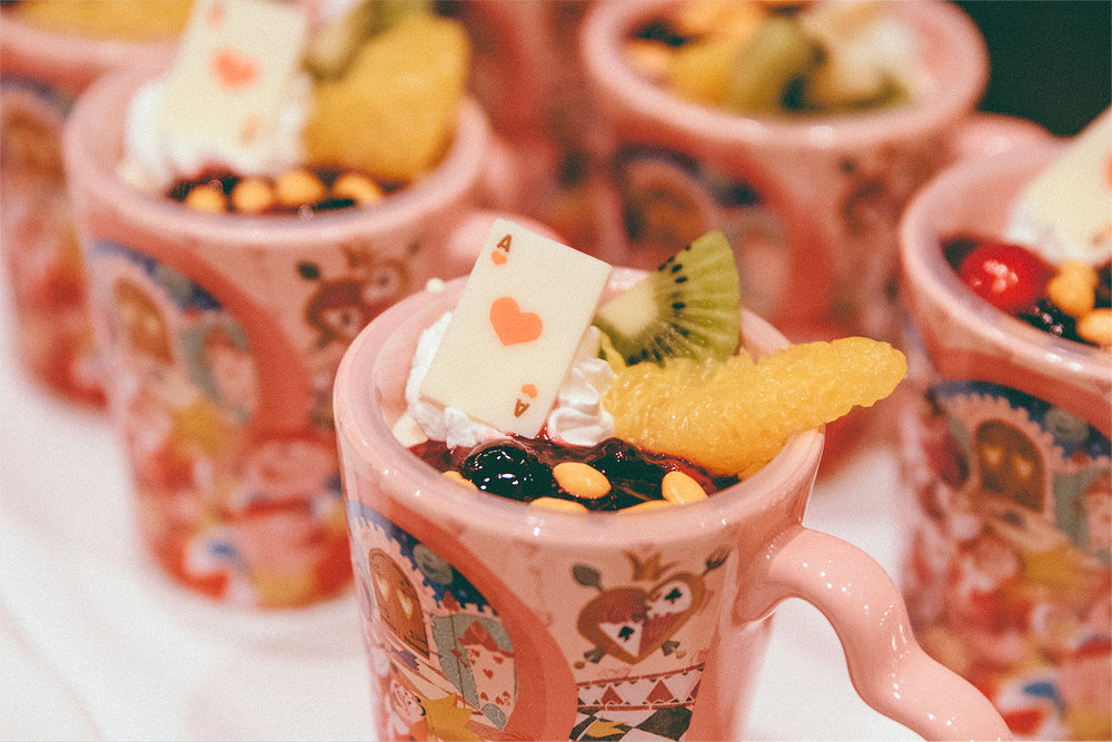 Yogurt mousse with another fun souvenir cup!