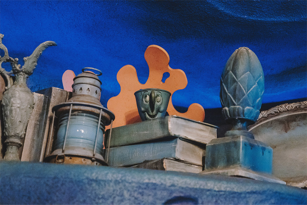 One night when we were relaxing in Ariel's Grotto, a very sweet Cast Member approached us and handed us maps to Ariel's Playground. She was also kind enough to point out this adorable Chip in Ariel's collection, which I had never noticed before.