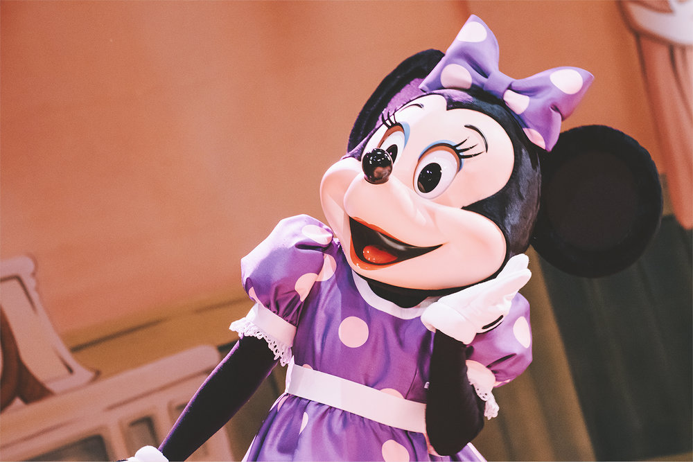 """Minnie's rare purple dress can only be seen during """"The Birth of Shellie May""""."""