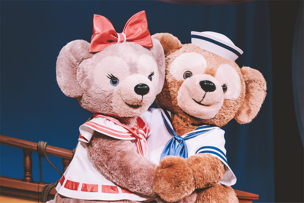Shellie May and Duffy are just the cutest in their matching uniforms.