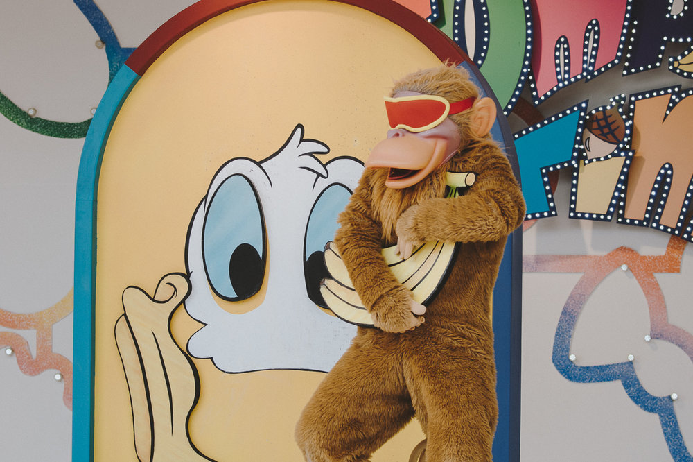Also, there's a super cute game show segment that left all the kids screaming at the monkeys.