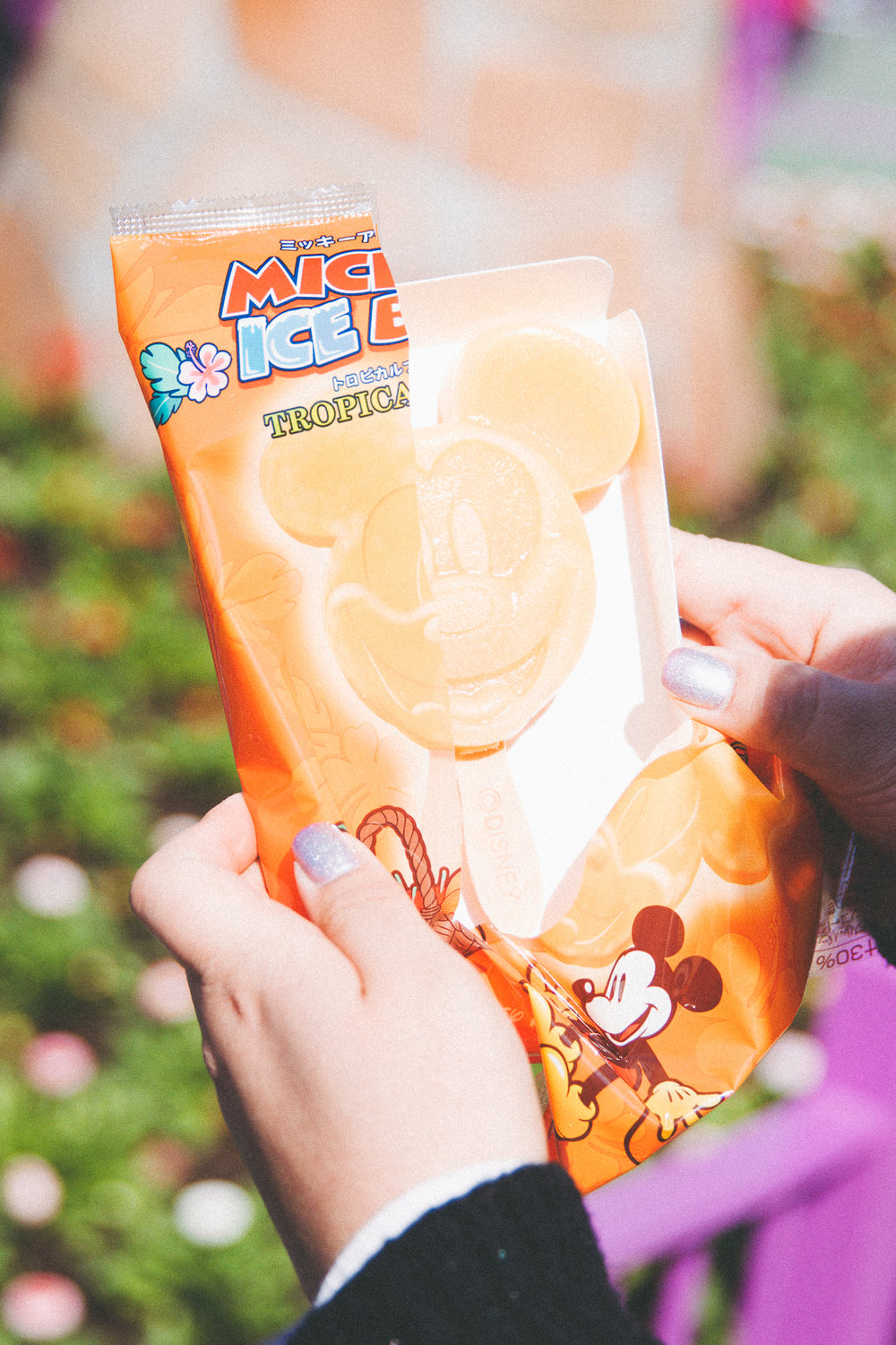Mickey Ice Bar Tropical Fruit (¥310) Too good to pass up even in cold weather, this ice bar is refreshing and packed with flavor.