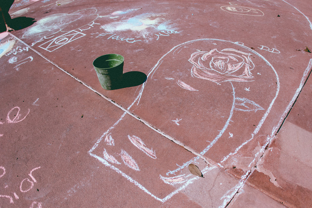 And if you're feeling inspired you can also create your own chalk art.