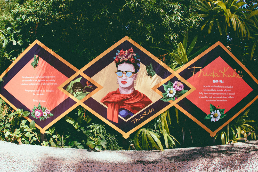 There was also Frida Kahlo photo opportunity, which didn't sit well with me. At the location, you can line up your face with Frida's iconic brow and I honestly couldn't distinguish whether this honored her or made a caricature of her?